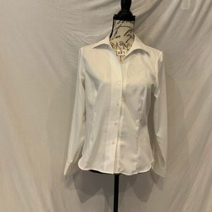 NWT-Jones New York white fitted dress shirt